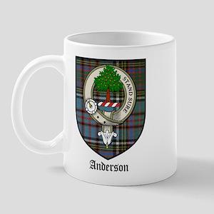 Anderson Clan Crest Tartan Mug
