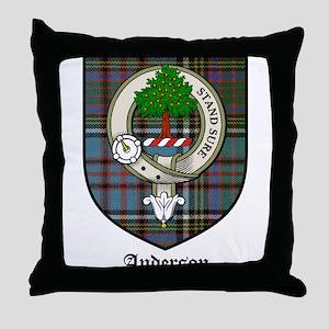 Anderson Clan Crest Tartan Throw Pillow