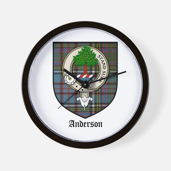 Anderson Clan Crest Tartan Wall Clock