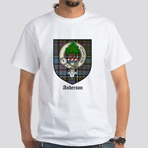 Anderson Clan Crest Tartan White T-Shirt