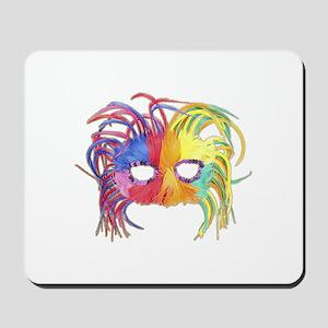 Feathered Mardi Gras Mask Mousepad