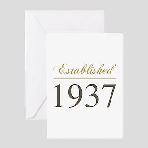 Established 1937 Greeting Card