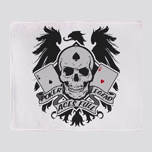 Poker Legend Throw Blanket