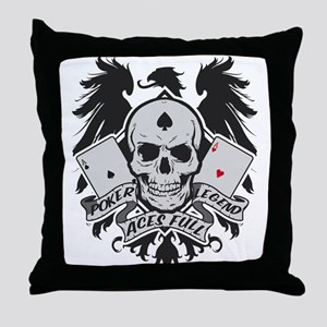 Poker Legend Throw Pillow
