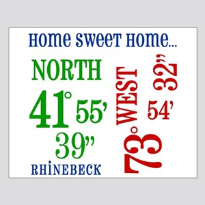 rhinebeck coordinates Small Poster
