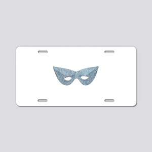 Mardi Gras Mask Aluminum License Plate