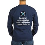Doing for Ourselves Long Sleeve Dark T-Shirt