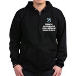 Doing for Ourselves Zip Hoodie (dark)
