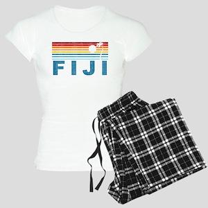 Retro Fiji Palm Tree Women's Light Pajamas