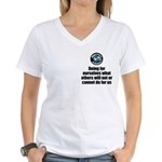 Doing for Ourselves Women's V-Neck T-Shirt