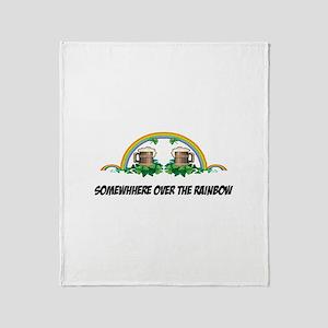 Irish Rainbow Throw Blanket