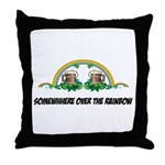 Irish Rainbow Throw Pillow