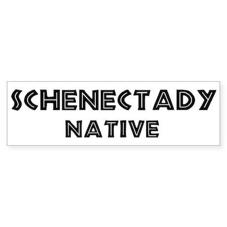 Schenectady Native Bumper Sticker
