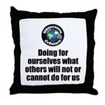 Doing For Ourselves Throw Pillow