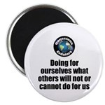 "Doing For Ourselves 2.25"" Magnet (10 Pack) Ma"