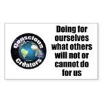 Doing for Ourselves Sticker (Rectangle 50 pk)