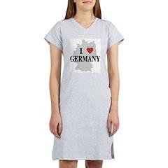 I Love Germany Women's Nightshirt