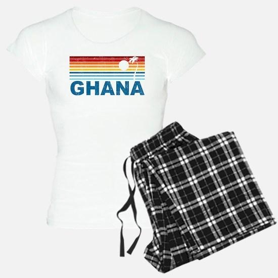 Retro Palm Tree Ghana Pajamas