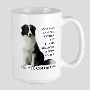 Border Collie Dad Large Mug