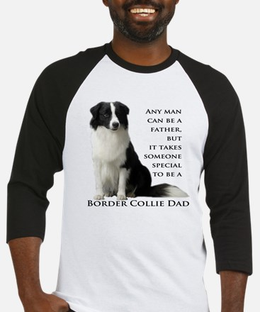 Border Collie Dad Baseball Jersey