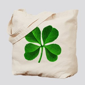 Lucky Charm 4-Leaf Clover Irish Tote Bag
