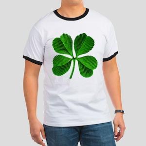 Lucky Charm 4-Leaf Clover Irish Ringer T