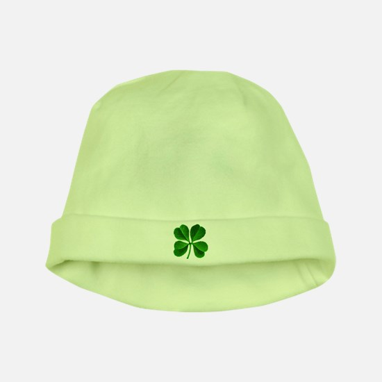 Lucky Charm 4-Leaf Clover Irish baby hat