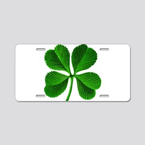 Lucky Charm 4-Leaf Clover Irish Aluminum License P