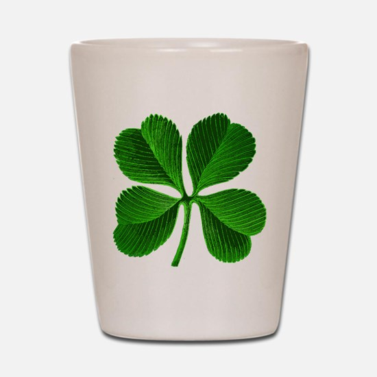 Lucky Charm 4-Leaf Clover Irish Shot Glass