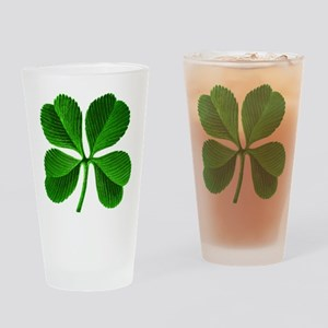 Lucky Charm 4-Leaf Clover Irish Drinking Glass