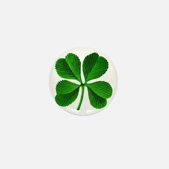 Lucky Charm 4-Leaf Clover Irish Mini Button