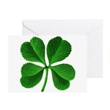 Four leaf cloverst patricks Greeting Cards (10 Pack)