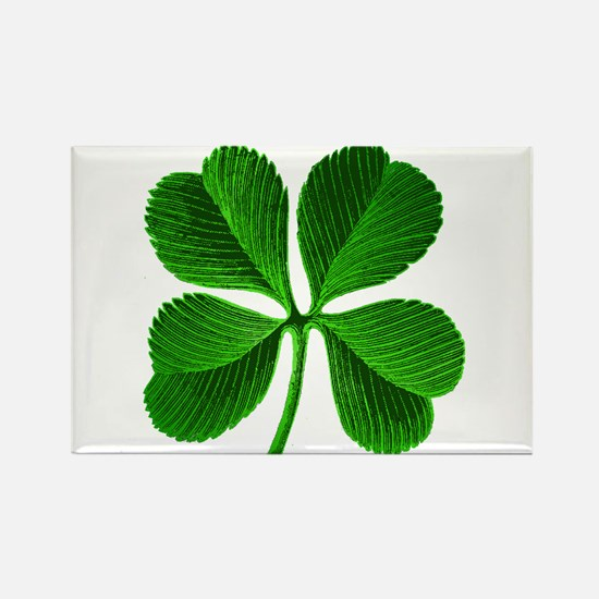 Lucky Charm 4-Leaf Clover Irish Rectangle Magnet