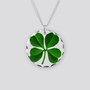 Lucky Charm 4-Leaf Clover Irish Necklace Circle Ch