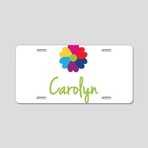 Carolyn Valentine Flower Aluminum License Plate