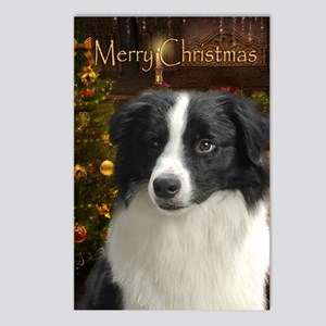 Holiday Border Collie Postcards (Package of 8)