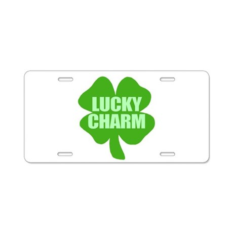Lucky Charm St. Patty's Day Aluminum License Plate