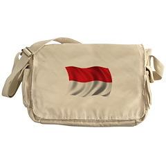 Wavy Indonesia Flag Messenger Bag