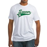 Vintage Soccer  Fitted T-Shirt