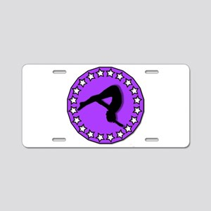 Gymnast in Purple Aluminum License Plate