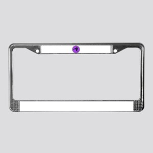 Gymnast in Purple License Plate Frame