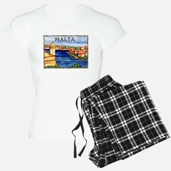 Vintage Malta Art Pajamas