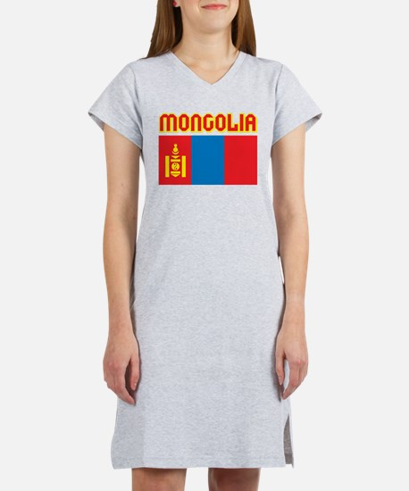 Mongolia Flag Women's Nightshirt