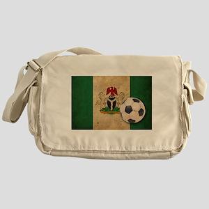 Vintage Nigeria Football Messenger Bag