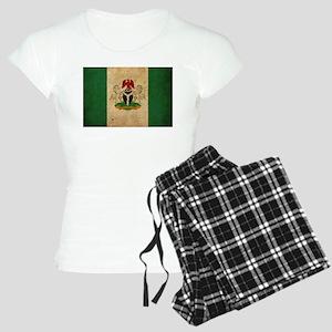 Vintage Nigeria Flag Women's Light Pajamas