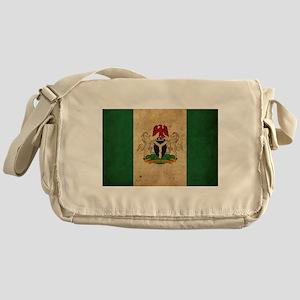 Vintage Nigeria Flag Messenger Bag