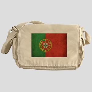 Vintage Portugal Flag Messenger Bag