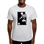 Soccer Silhouette Ash Grey T-Shirt