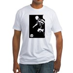 Soccer Silhouette Fitted T-Shirt