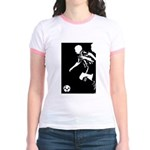 Soccer Silhouette Jr. Ringer T-Shirt